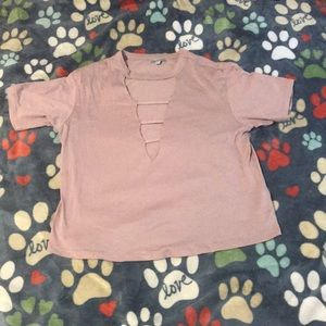 NWOT Caged Charlotte Russe Top